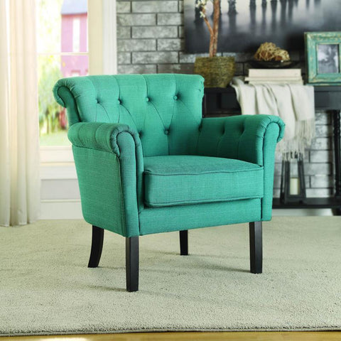 Homelegance Barlowe Accent Chair in Dark Teal
