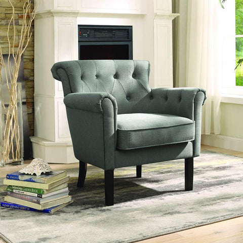 Homelegance Barlowe Accent Chair in Gray