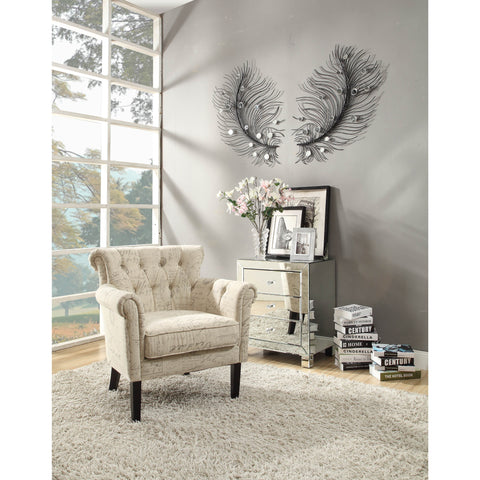 Homelegance Barlowe Upholstered Accent Chair in French Linen