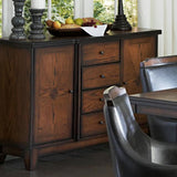 Homelegance Bayshore 54 Server in Medium Walnut