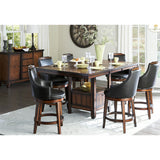 Homelegance Bayshore 8 Piece Counter Height Table Set w/ Storage Base