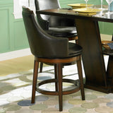 Homelegance Bayshore Swivel Counter Height Chair in Dark Brown Vinyl