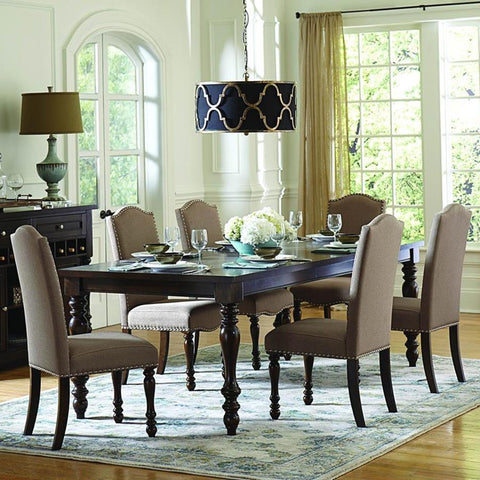 Homelegance Benwick 7 Piece Rectangular Dining Room Set in Dark Cherry