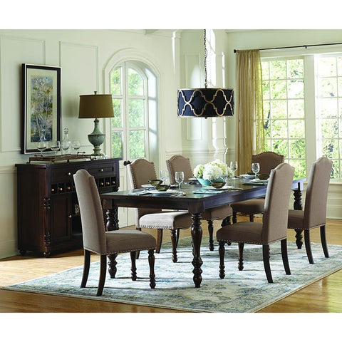 Homelegance Benwick 8 Piece Rectangular Dining Room Set in Dark Cherry