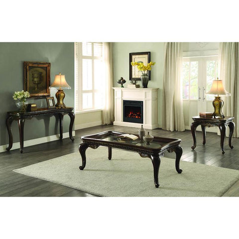 Homelegance Bonaventure Park 3 Piece Coffee Table Set in Cherry