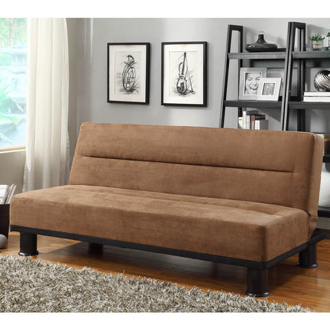 Homelegance Callie Click Clack Elegant Lounger in Brown Microfiber