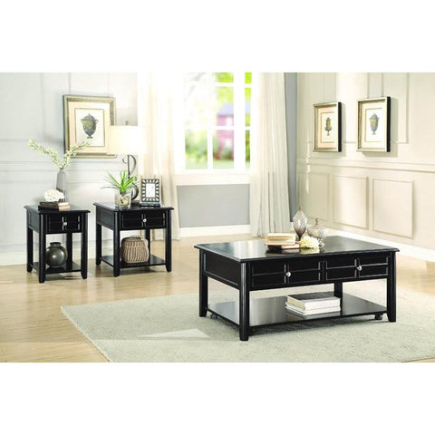 Homelegance Carrier 3 Piece Coffee Table Set in Espresso