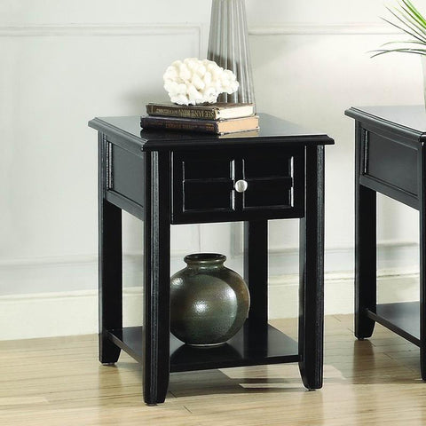 Homelegance Carrier Chairside Table w/Functional Drawer in Espresso