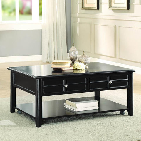 Homelegance Carrier Cocktail Table w/Lift Top on Casters in Espresso
