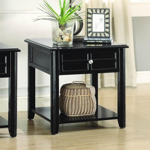 Homelegance Carrier End Table w/Functional Drawer in Espresso