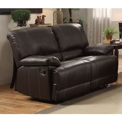 Homelegance Cassville Ls, Double Recliner In Dark Brown Bi-Cast Vinyl