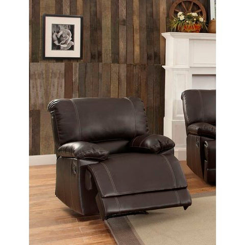 Homelegance Cassville Recliner Chair In Dark Brown Bi-Cast Vinyl
