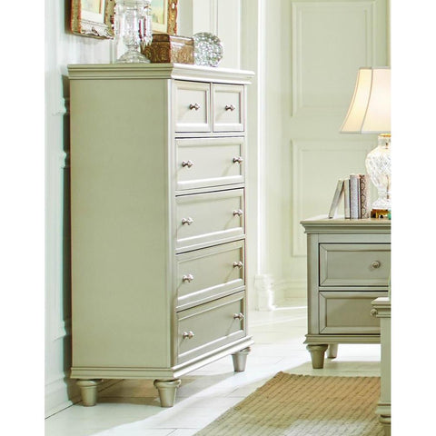 Homelegance Celandine 6 Drawer Chest in Silver