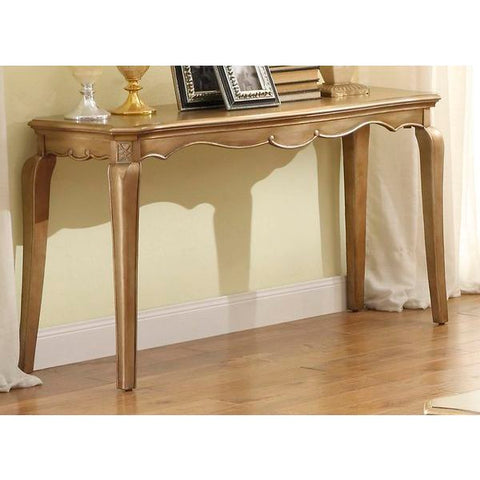Homelegance Chambord Sofa Table In Antique Gold