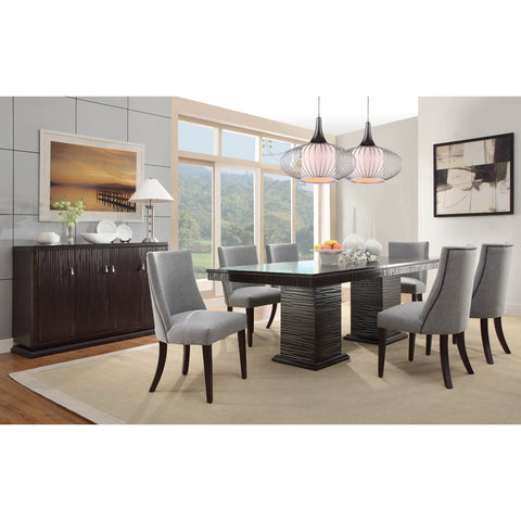 Homelegance Chicago 8 Piece Pedestal Dining Room Set in Deep Espresso