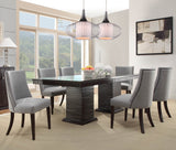 Homelegance Chicago Double Pedestal Dining Table in Deep Espresso