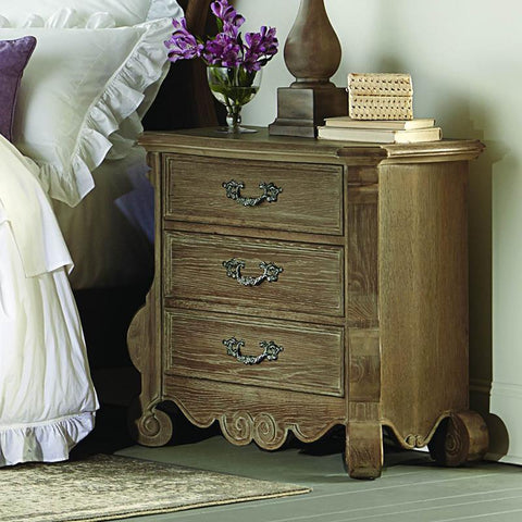 Homelegance Chrysanthe 2 Drawer Nightstand in Oak