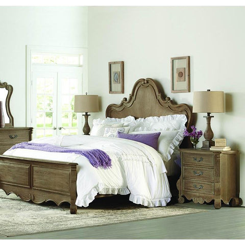 Homelegance Chrysanthe 2 Piece Panel Bedroom Set in Oak