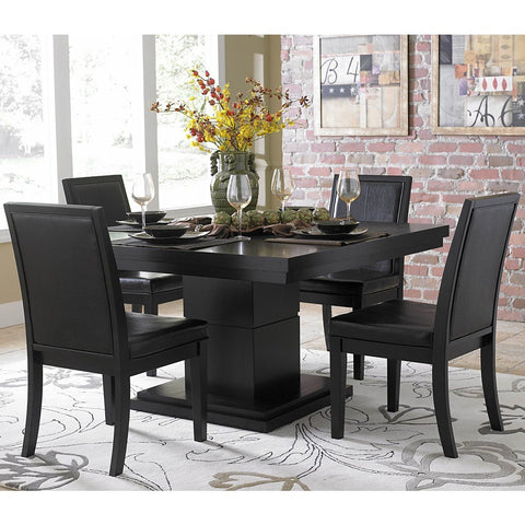 Homelegance Cicero Square Pedestal Dining Table in Black