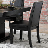 Homelegance Cicero Upholstered Side Chair in Black Vinyl
