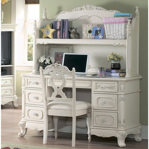 Homelegance Cinderella 3 Piece Kids' Desk Set in White