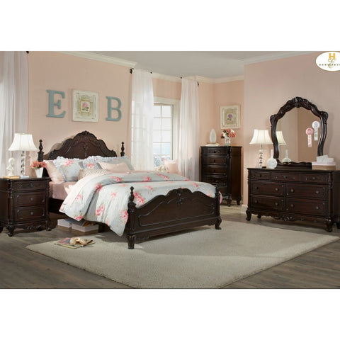 Homelegance Cinderella 5 Piece Poster Kids' Bedroom Set in Dark Cherry