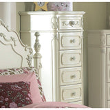 Homelegance Cinderella 6-Drawer Tall Chest in White