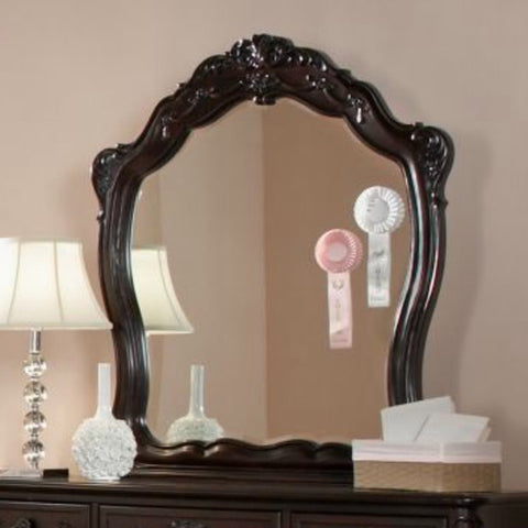Homelegance Cinderella Arched Mirror in Dark Cherry