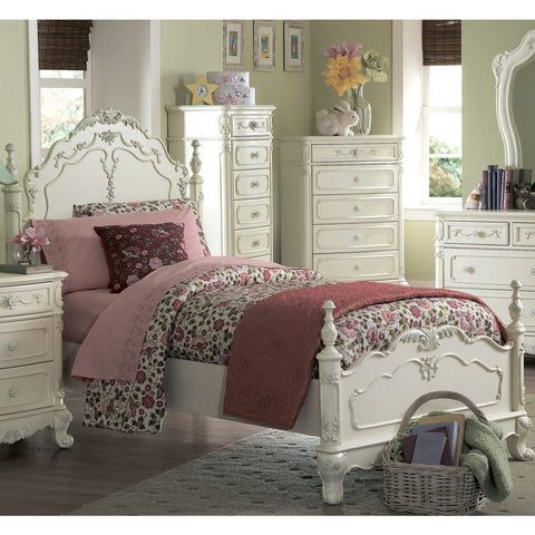Homelegance Cinderella Kids' Poster Bed in White
