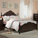 Homelegance Cinderella Poster Bed in Dark Cherry