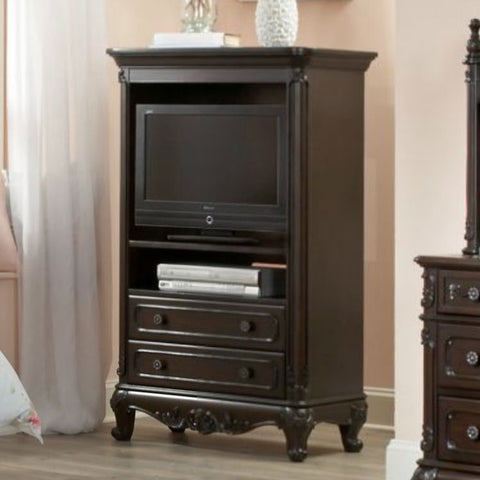 Homelegance Cinderella TV Storage Armoire in Dark Cherry