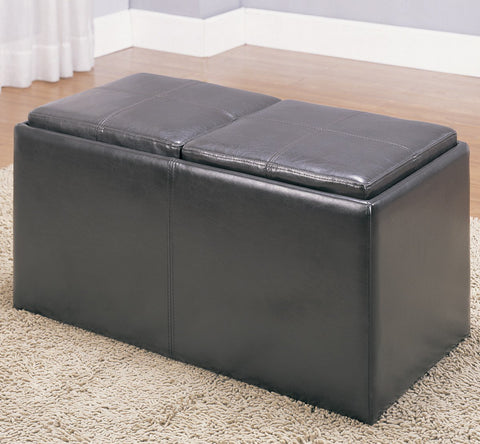 Homelegance Claire Storage Bench w/ 2 Ottomans & Trays