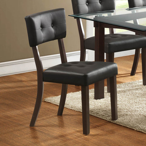 Homelegance Clarity Side Chair w/ Dark Brown Vinyl Cover in Espresso