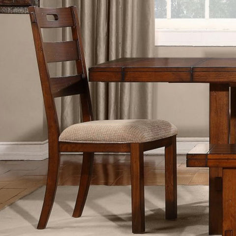 Homelegance Clayton Ladder Back Side Chair in Dark Oak