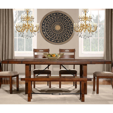 Homelegance Clayton Rectangular Extension Dining Table in Dark Oak