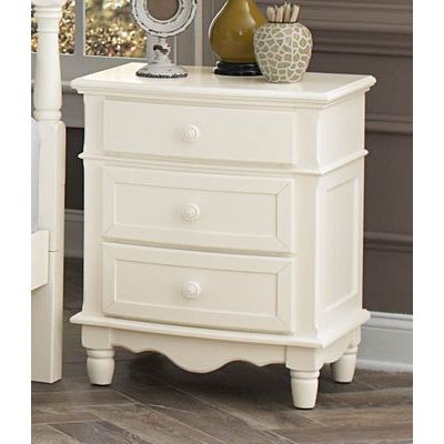 Homelegance Clementine Night Stand In Antique White