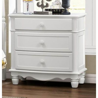 Homelegance Clementine Night Stand In White