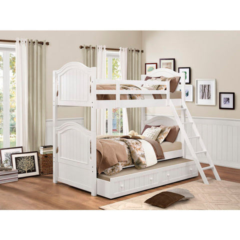 Homelegance Clementine Bunk Bed In Antique White