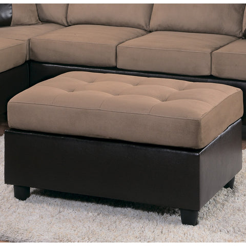 Homelegance Comfort Living Ottoman in Brown & Dark Brown