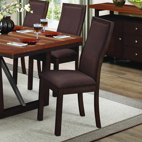 Homelegance Compson Side Chair in Chocolate Brown Fabric