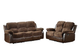 Homelegance Cranley Double Reclining Sofa in Brown Microfiber