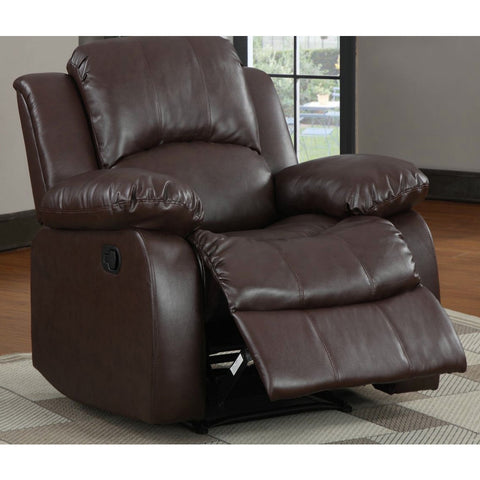 Homelegance Cranley Reclining Chair in Brown Leather