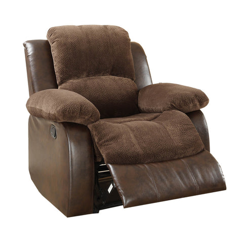 Homelegance Cranley Reclining Chair in Brown Microfiber