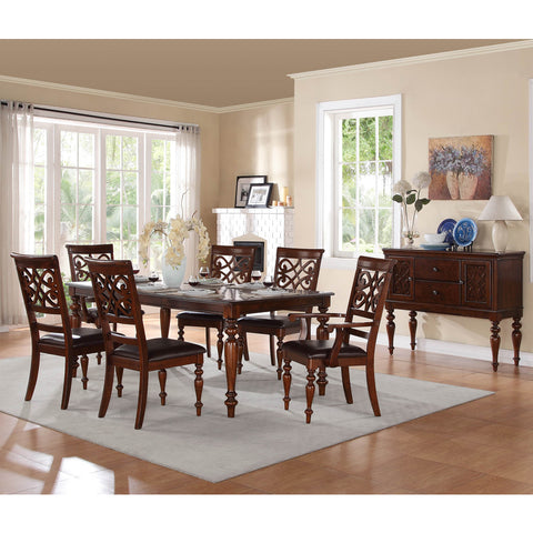 Homelegance Creswell 8 Piece Dining Room Set in Rich Cherry