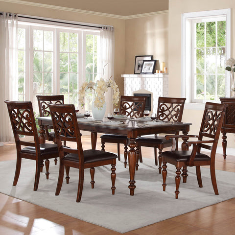 Homelegance Creswell Dining Table in Rich Cherry