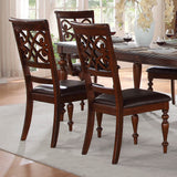 Homelegance Creswell 7 Piece Dining Room Set in Rich Cherry