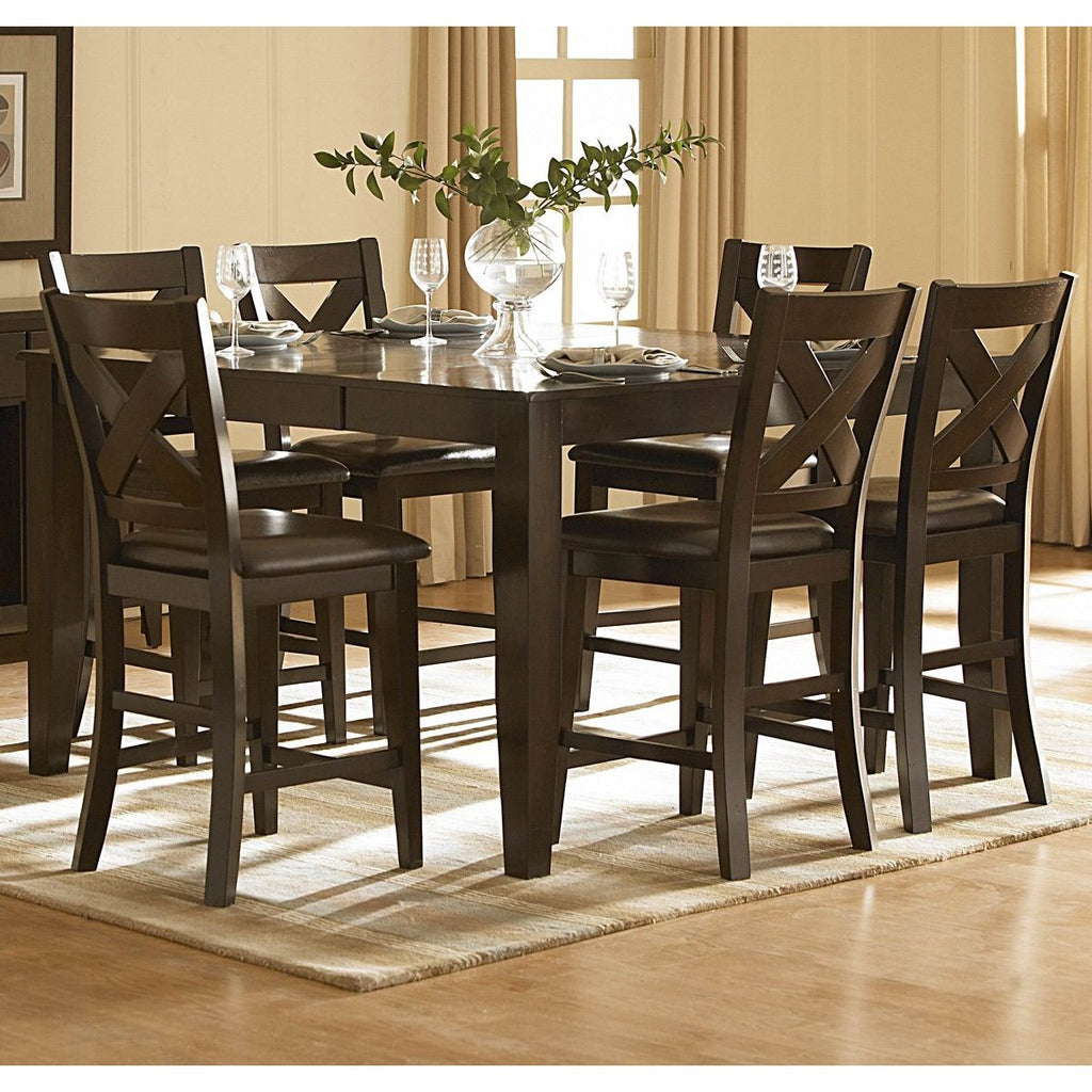 Counter Dining Room Sets: Homelegance Crown Point 7 Piece Counter Height Dining Room