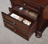 Homelegance Cumberland 3 Drawer Nightstand in Medium Brown