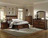 Homelegance Cumberland 5 Drawer Chest in Medium Brown