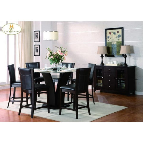 Homelegance Daisy 5 Piece Round Counter Height Dining Room Set